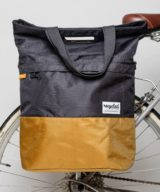 Urban Proof Recycled Shopper Pannier Bag in Granite Grey and Gold