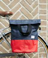 Linus Sac Bike Pannier Bag Navy & Red