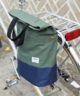 Linus Sac Bike Pannier Bag Khaki & Navy