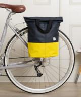 Linus Sac Bike Pannier Bag Navy & Yellow – Cyclechic Award Winner