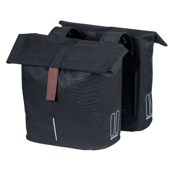 Basil Double Panniers in black