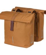 Basil City Double Pannier Bag in Caramel