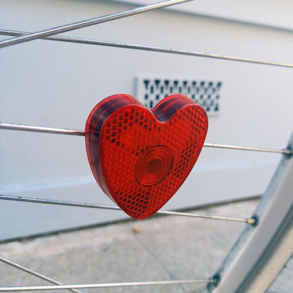 Heart Spoke Bike light and reflector